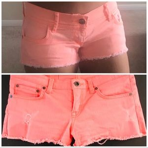 Hurley Neon Distressed Shorts